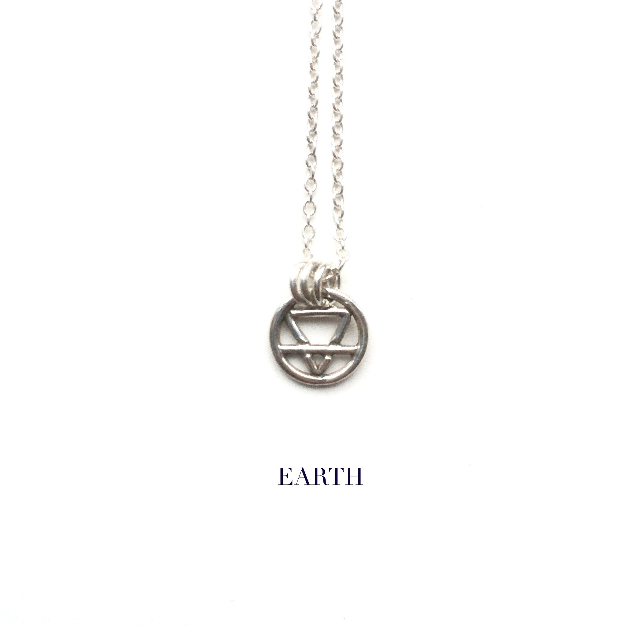 Alchemy Elements Necklaces Sterling Silver Earth Air Fire Water