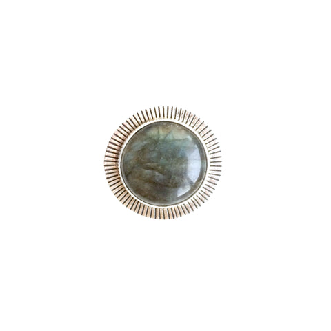 Large Round Labradorite Ring