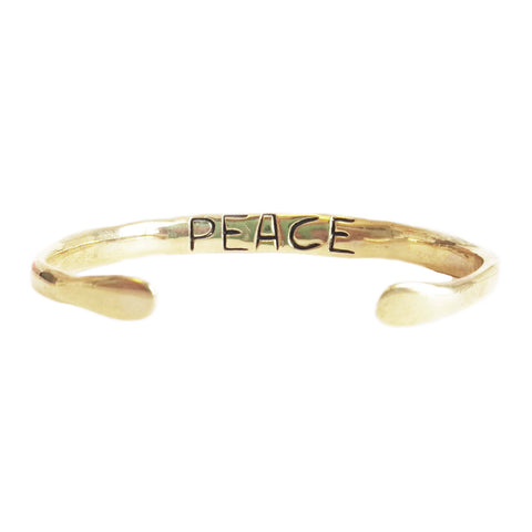 "Power of Words Cuff ""PEACE"""