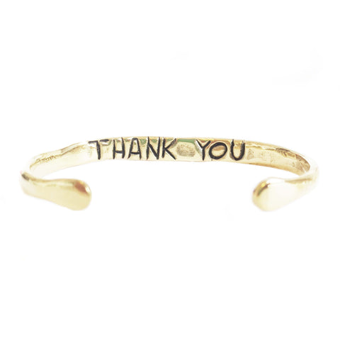 "Power of Words Cuff ""THANK YOU"""