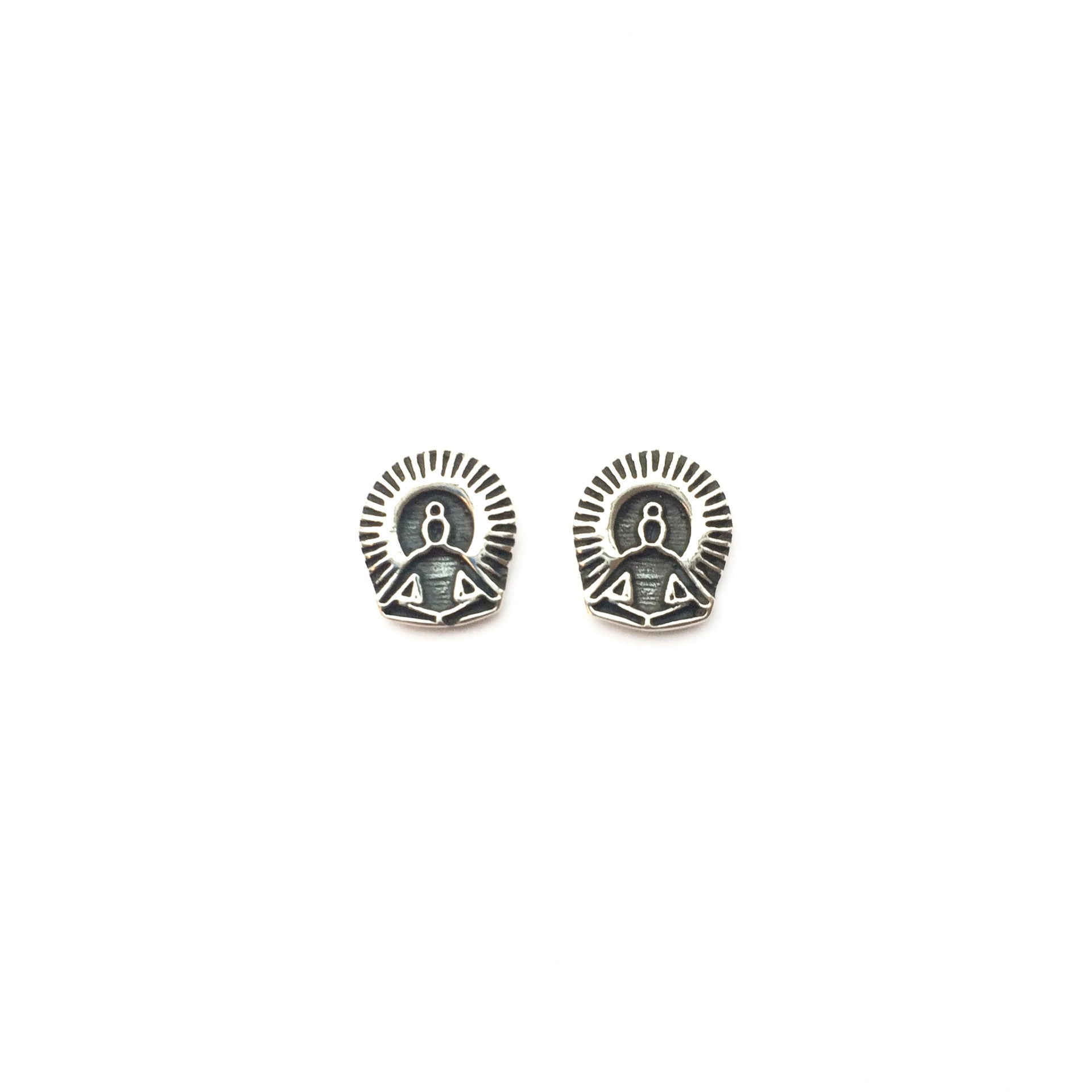 Seat of the Soul Chakra Reflection Silver Studs