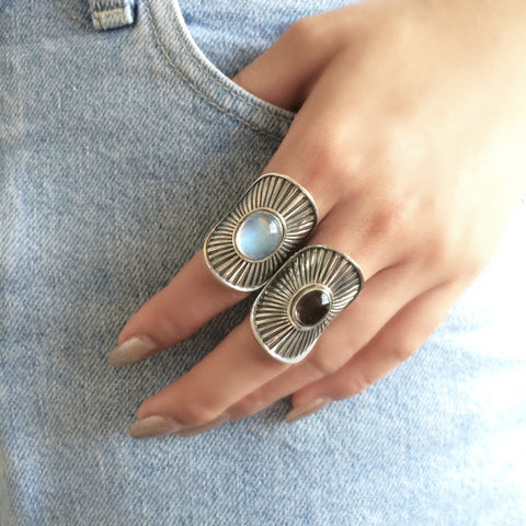 Sunburst Shield Rings