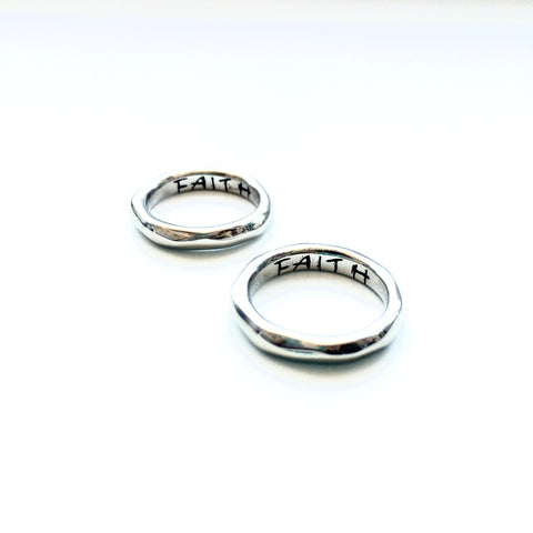 "Power of Words ""FAITH"" Ring"