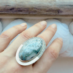 Large Jasper Sun Ray Ring