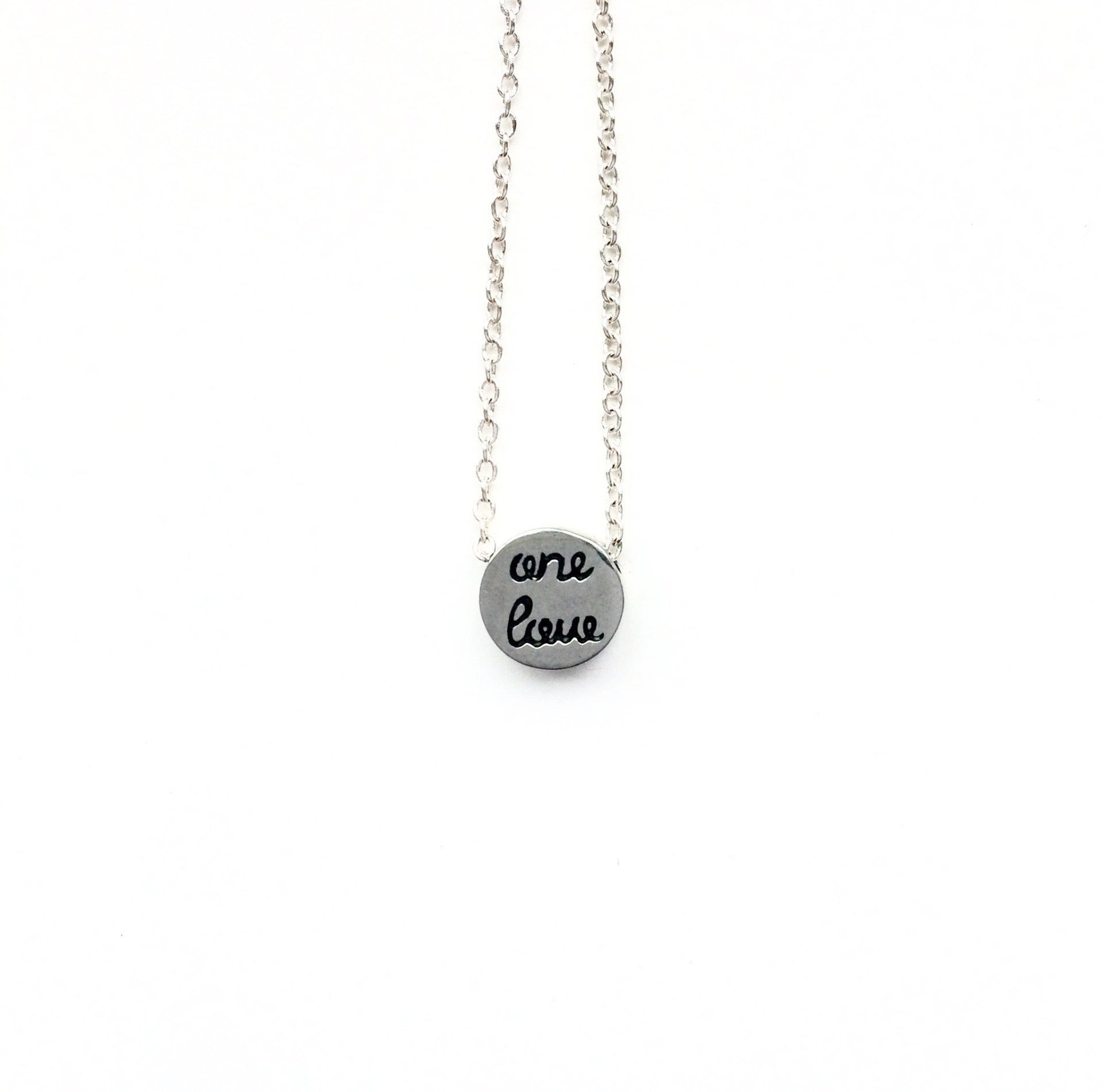 """One Love"" Tiny Circle Necklace"