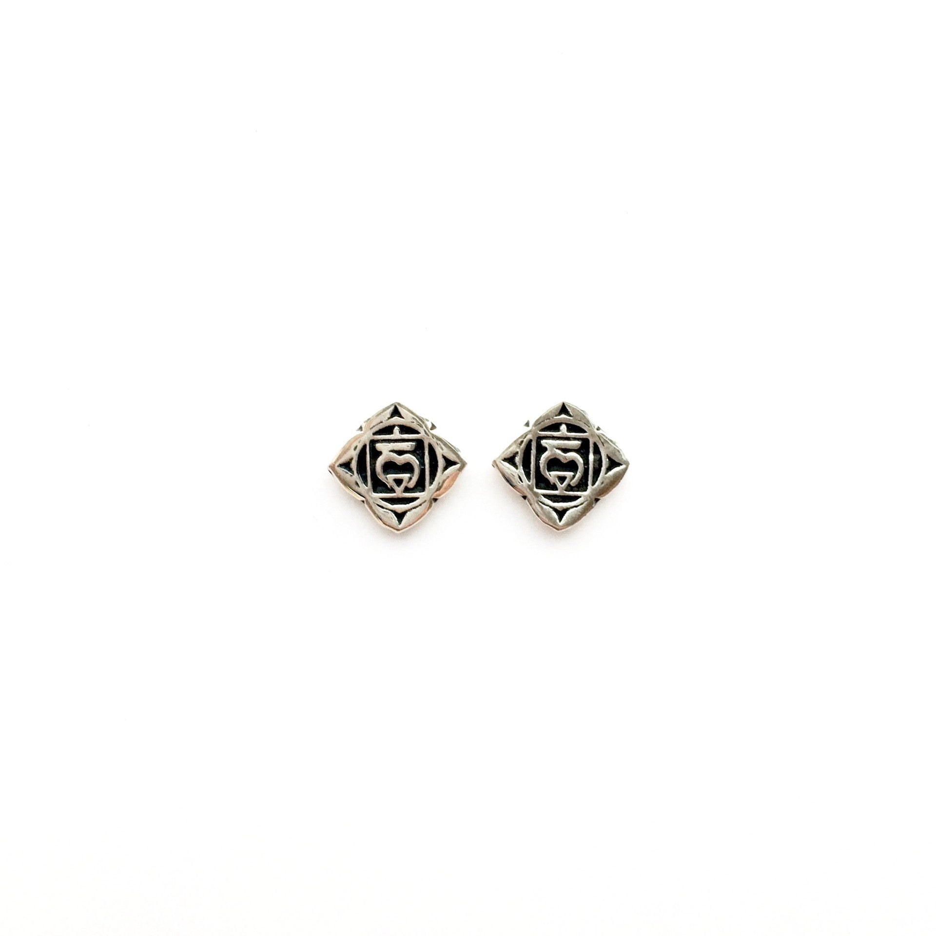 Root Chakra Reflection Silver Studs