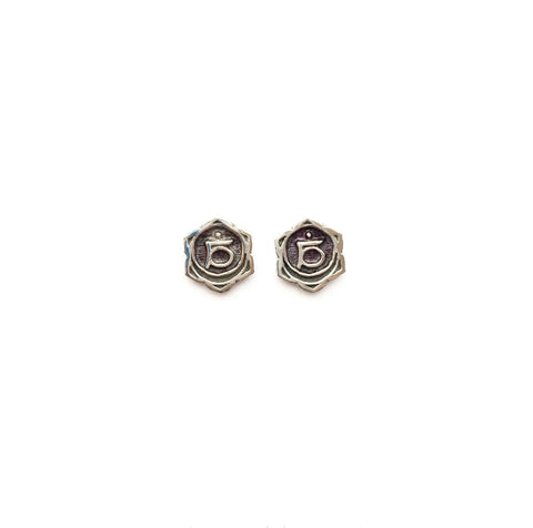Sacral Chakra Reflection Silver Studs