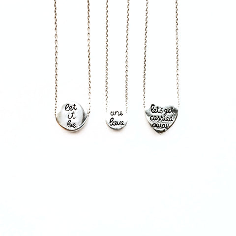 """Let it Be"" Circle Necklace"