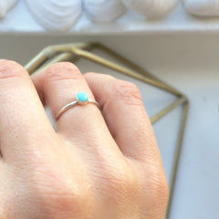 Tiny Amazonite Stacking Ring