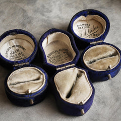 Antique Victorian Mauveine ring boxes