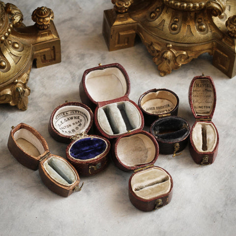 antique georgian ring boxes