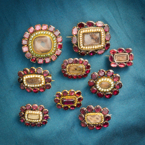 georgian garnet fichu pin collection