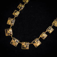 Vintage Japan Enamel Necklace
