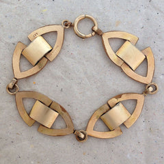 Jazzy Geometric 1940's Cocktail Bracelet