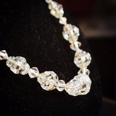 Delightful 1920's Rock Crystal Bead Necklace