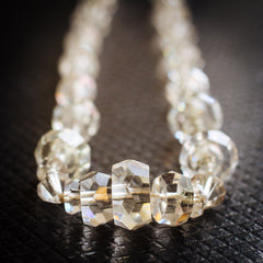 Vintage Rock Crystal Bead Necklace