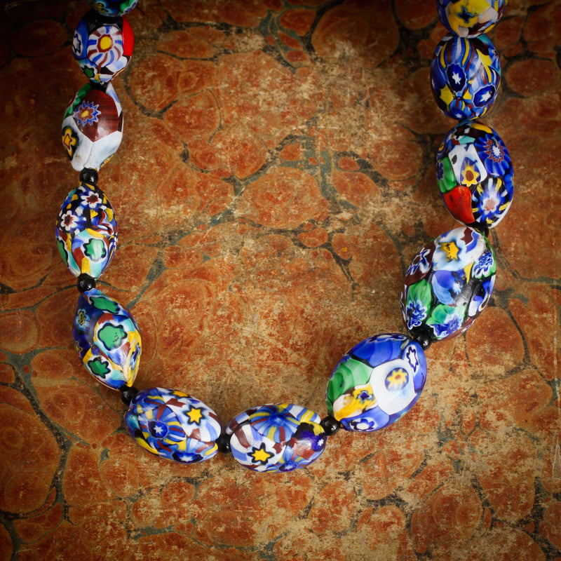 Magnificent Antique Venetian Glass Necklace Fetheray