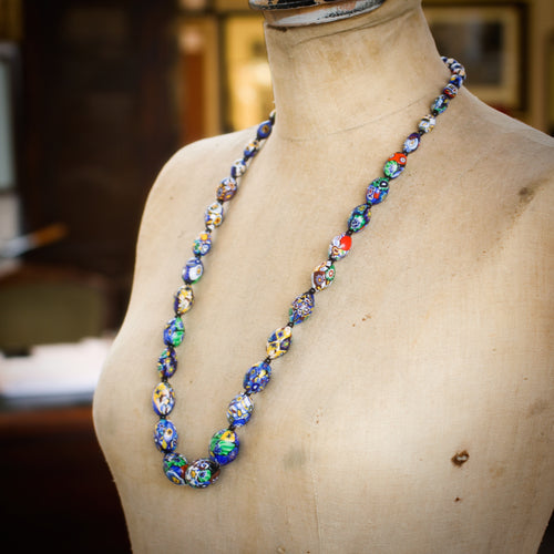Antique Venetian Art Glass Bead Necklace