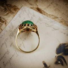 Vintage Italian Green Marble Dress Ring