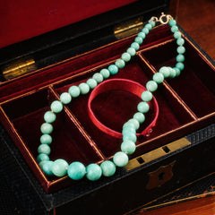 Inspiring Vintage Graduated Amazonite Bead Necklace