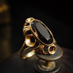 Vintage 1970's Smokey Quartz Dress Ring