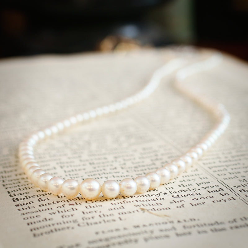 Superb Quality Vintage Akoya Cultured Pearl Necklace
