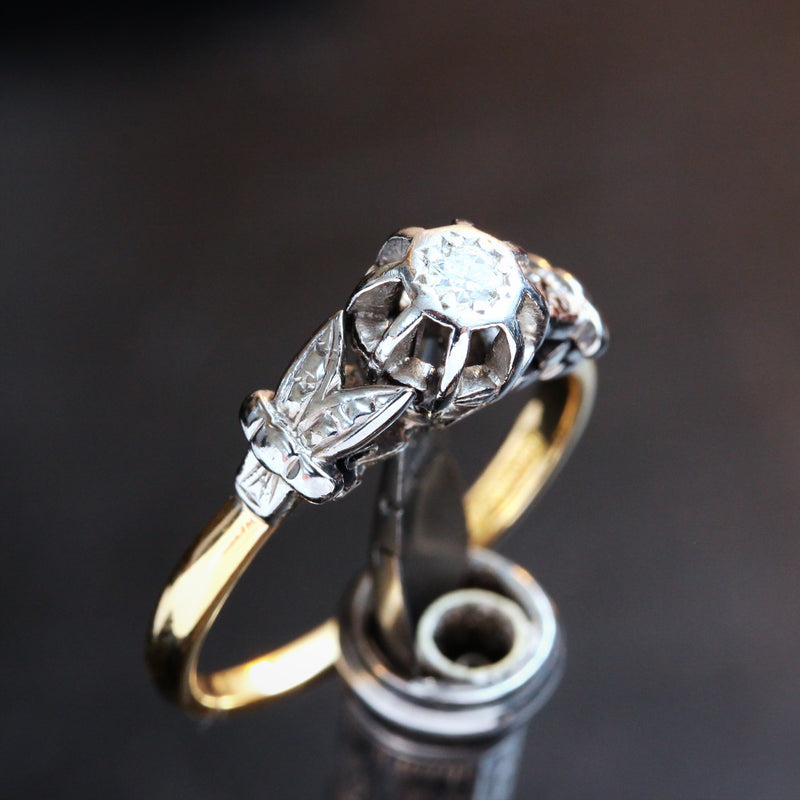 1950's Art Deco Diamond Engagement Ring