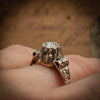 Dramatic Floriate Vintage Art Deco Diamond Engagement Ring