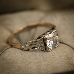 Vintage Antique Art Deco Diamond Engagement Ring