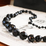 Victorian French Jet Bead Necklace