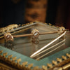 Extravagant Antique Victorian Old-Cut Diamond Bar Brooch