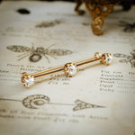 Antique Vintage Diamond Bar Brooch Pin