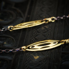 Sweet Silver and  Gilt Metal Layering Chain Necklace