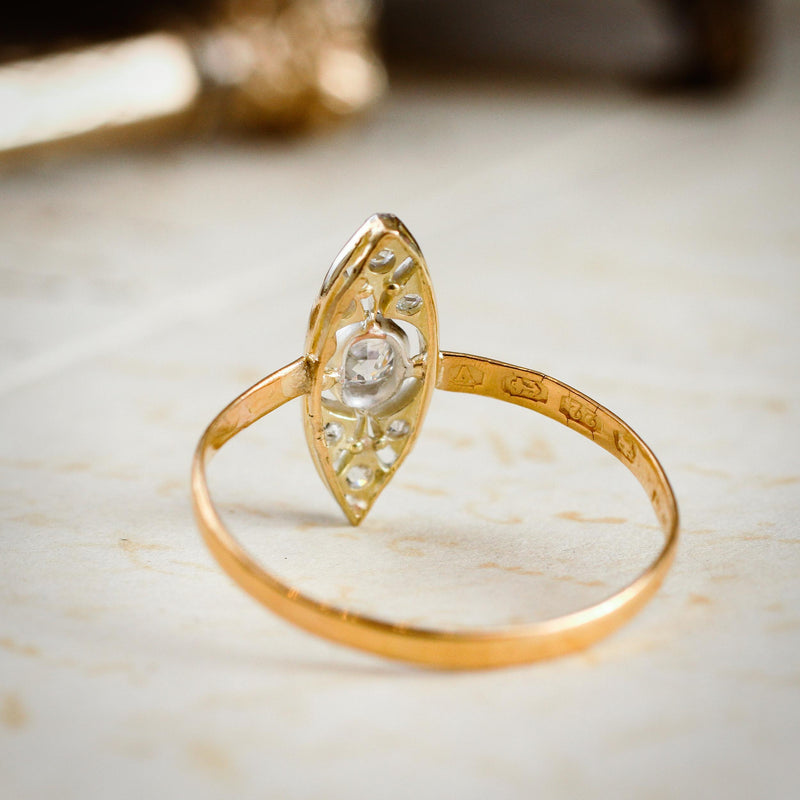 Most Fanciful Antique Edwardian Diamond Panel Dress Ring
