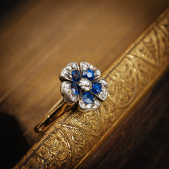 Antique Sapphire Diamond Pansy Ring
