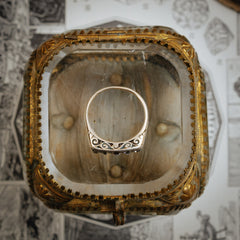 Antique Victorian Five Stone Diamond Half Hoop Ring