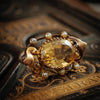 Antique Art Nouveau Citrine Brooch