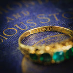 Verdant Date 1876 15ct Gold Green Paste Ring
