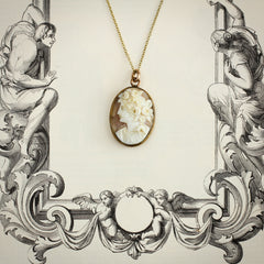 An Antique Shell Cameo Pendant of the Greek Goddess Flora