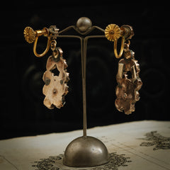 Antique Victorian Bohemian Garnet Earrings