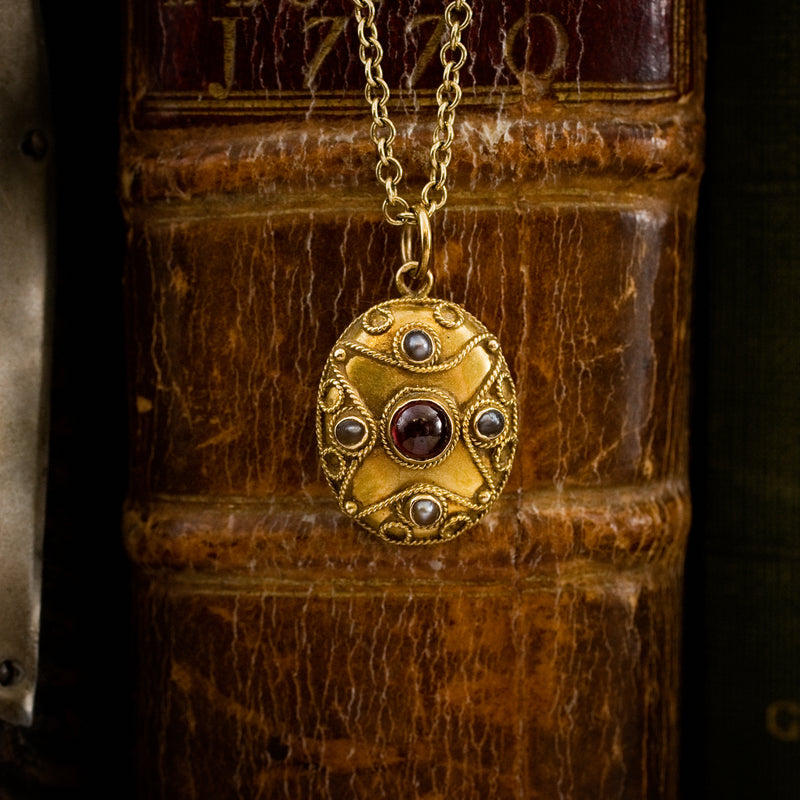 Heirloom Victorian Antique Etruscan Revival Locket