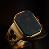 Noble Antique Arts and Crafts Bloodstone Ring