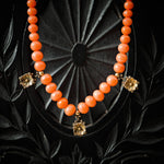Antique Victorian Etruscan Revival Style Sciacca Coral Necklace