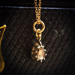 Little Antique Pear-shaped Rose Cut Diamond Pendant