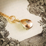 Oh, My Darling Sweety Little Antique Pear-shaped Rose Cut Diamond Pendant