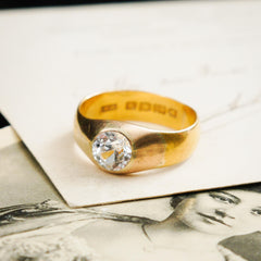 Uniquely Wonderful Date 1913 22ct Gold Paste Ring