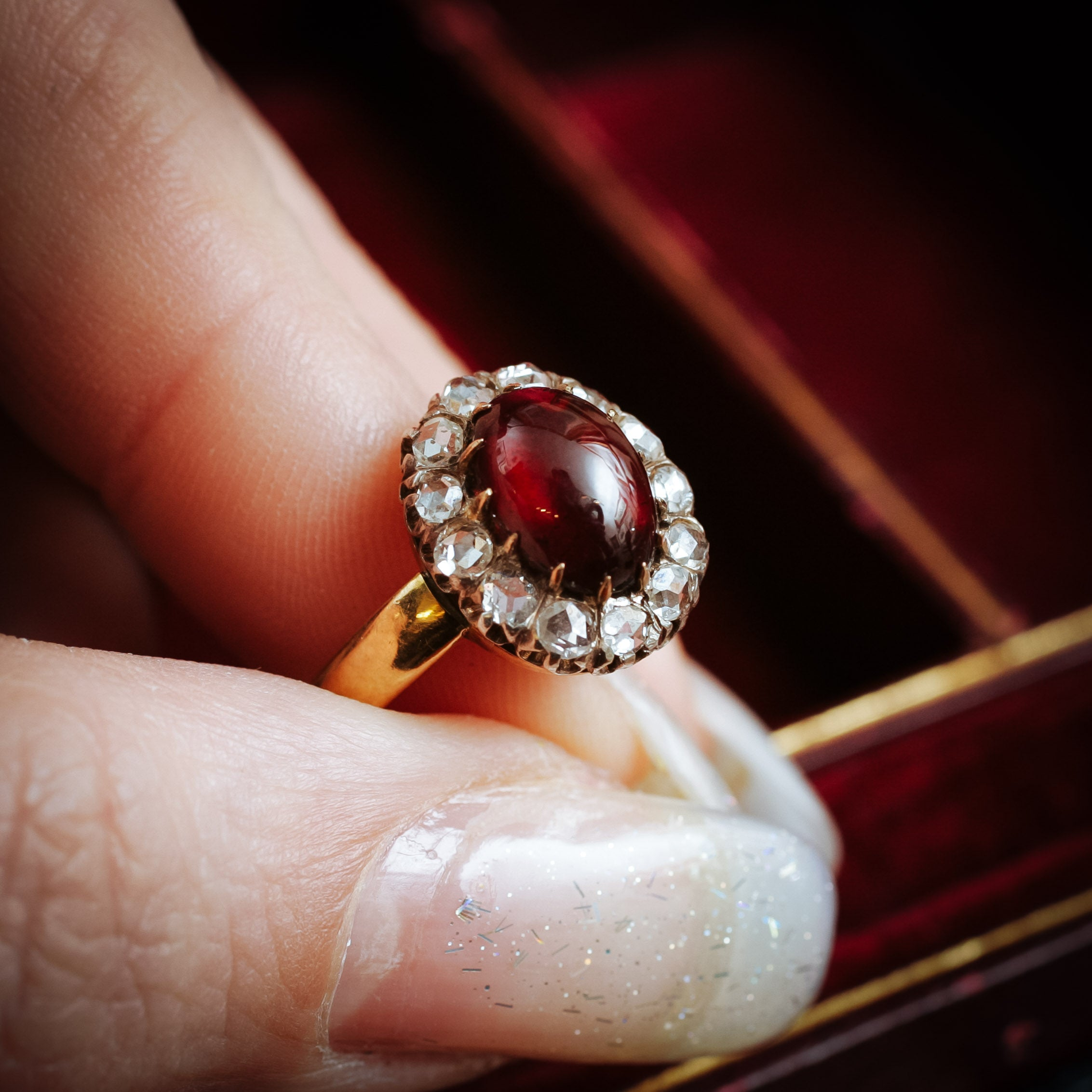 birthstone diamond january garnet jewelry rings borsheims
