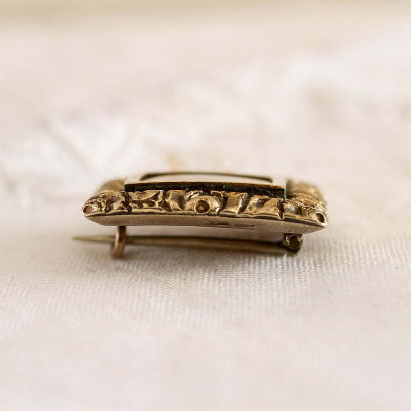 Precious Date 1821 Georgian Lace Pin Brooch