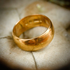 Vintage Date 1958 Gold Wedding Band Ring