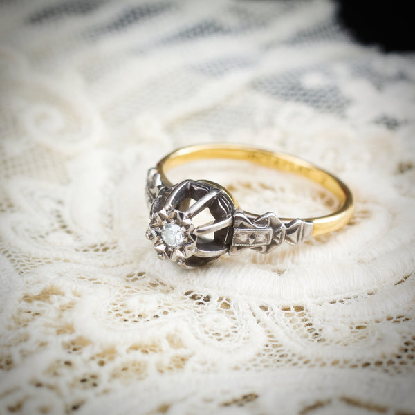 An Extravagant Art Deco Diamond Solitaire Engagement Ring